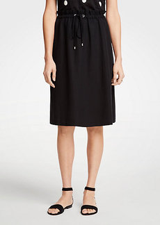 Ann Taylor The Petite Drawstring Skirt