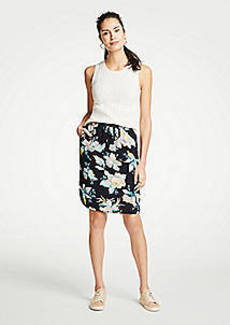 Ann Taylor The Petite Drawstring Skirt in Chinoiserie Tropics