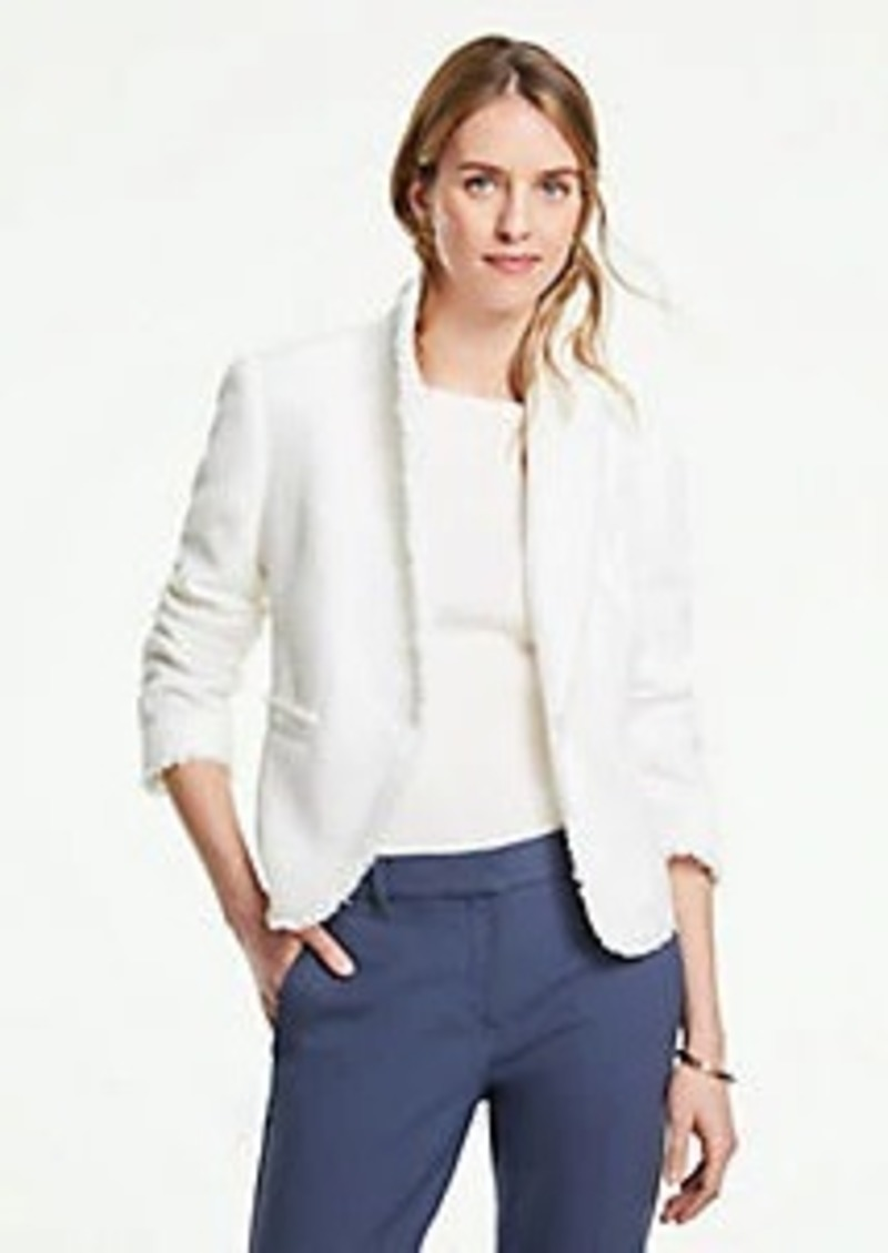 Ann Taylor The Petite Newbury Blazer in Fringe Tweed