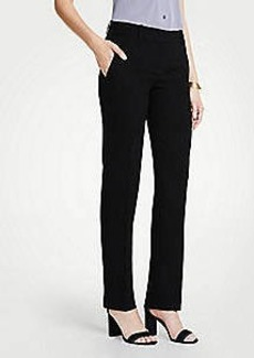 Ann Taylor The Petite Straight Leg Pant In Doubleweave - Curvy Fit