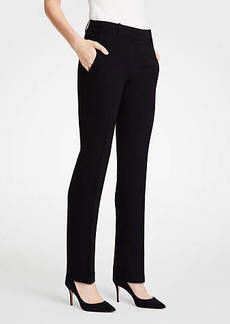 Ann Taylor The Petite Straight Leg Pant In Doubleweave