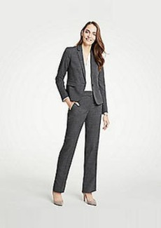 Ann Taylor The Petite Straight Leg Pant In Fine Crosshatch - Classic Fit