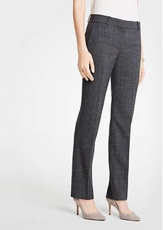 Ann Taylor The Petite Straight Leg Pant In Fine Crosshatch
