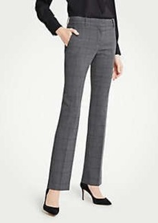 Ann Taylor The Petite Straight Leg Pant In Glen Plaid - Classic Fit