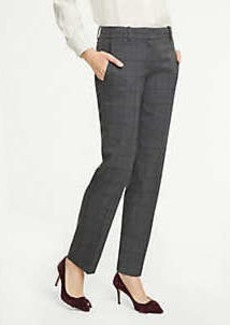Ann Taylor The Petite Straight Leg Pant In Glen Plaid - Curvy Fit