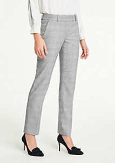 Ann Taylor The Petite Straight Leg Pant In Glen Plaid