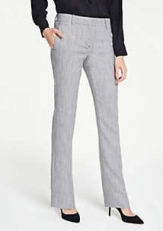 Ann Taylor The Petite Straight Leg Pant In Herringbone - Curvy Fit