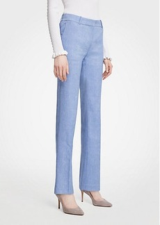 Ann Taylor The Petite Straight Leg Pant In Linen Blend - Curvy Fit