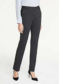 Ann Taylor The Petite Straight Leg Pant In Pindot - Curvy Fit