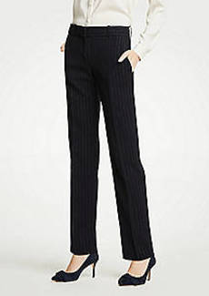 Ann Taylor The Petite Straight Leg Pant In Pinstripe - Classic Fit