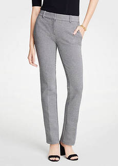Ann Taylor The Petite Straight Leg Pant In Puppytooth