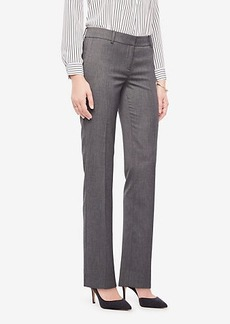 Ann Taylor The Petite Straight Leg Pant In Sharkskin - Curvy Fit