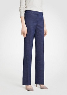 Ann Taylor The Petite Straight Leg Pant In Textured Stretch