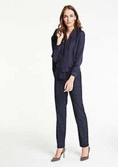 Ann Taylor The Petite Straight Leg Pant In Windowpane - Classic Fit