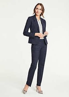 Ann Taylor The Petite Straight Leg Pant In Windowpane - Curvy Fit