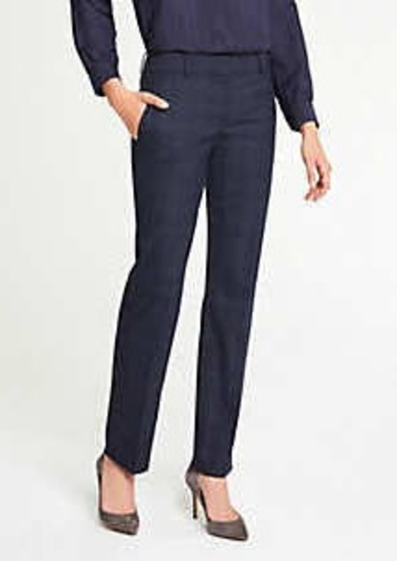 Ann Taylor The Petite Straight Leg Pant In Windowpane