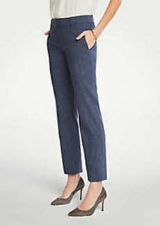 Ann Taylor The Petite Straight Pant In Linen Blend - Curvy Fit