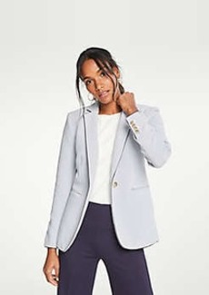 Ann Taylor The Petite Stripe Piped Knit Blazer
