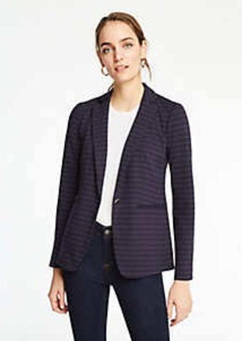 Ann Taylor The Petite Striped Knit Blazer