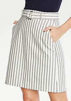Ann Taylor The Petite Striped Marina Skirt