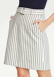 Ann Taylor The Petite Striped Marina Skirt