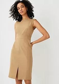 Ann Taylor The Petite Topstitched Front Slit Sheath Dress