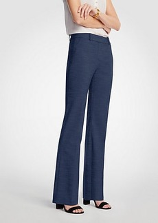 Ann Taylor The Petite Trouser In Textured Stretch  - Curvy Fit