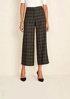Ann Taylor The Plaid Tweed Wide Leg Marina Pant