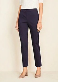 Ann Taylor The Side Zip Pant in Cotton Sateen