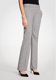 Ann Taylor The Straight Leg Pant In Crosshatch - Curvy Fit