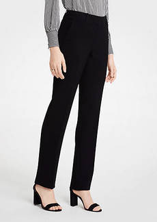 Ann Taylor The Straight Leg Pant In Doubleweave - Classic Fit