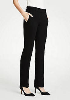 Ann Taylor The Straight Leg Pant In Doubleweave