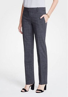 Ann Taylor The Straight Leg Pant In Fine Crosshatch - Curvy Fit