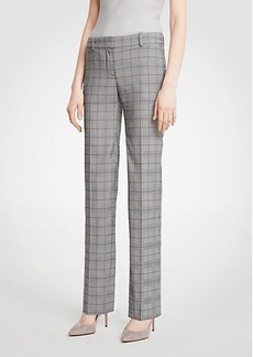 The Straight Leg Pant In Glen Plaid - Curvy Fit