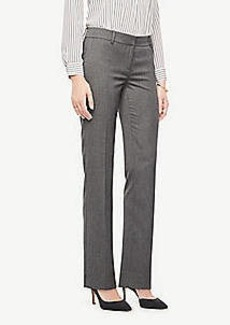 Ann Taylor The Straight Leg Pant In Sharkskin - Curvy Fit