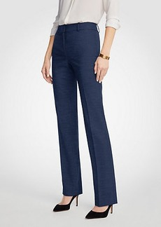 The Straight Leg Pant In Textured Stretch  - Curvy Fit