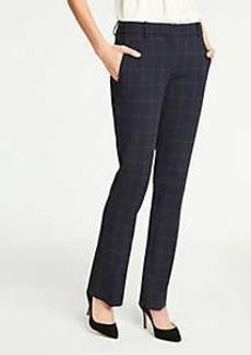 Ann Taylor The Straight Leg Pant In Windowpane