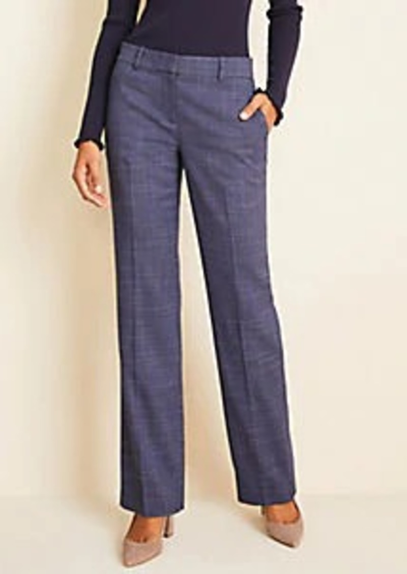 Ann Taylor The Straight Pant In Crosshatch  - Classic Fit
