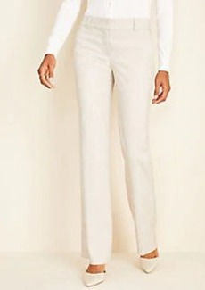 Ann Taylor The Straight Pant In Crosshatch