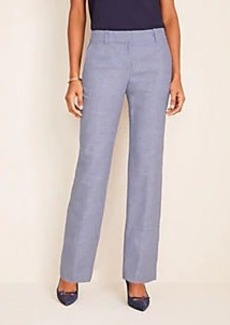 Ann Taylor The Straight Pant in Linen Twill