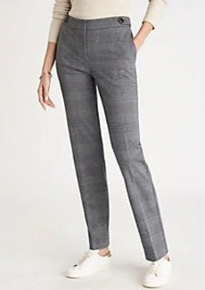 Ann Taylor The Plaid Straight Pant - Curvy Fit