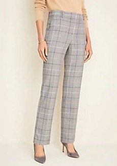Ann Taylor The Straight Pant in Windowpane - Classic Fit