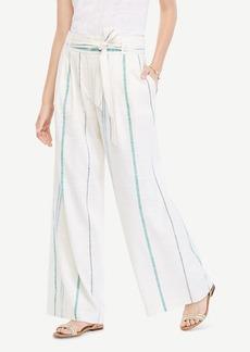 Ann Taylor The Striped Tie Waist Wide Leg Pant