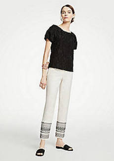 Ann Taylor The Tall Ankle Pant In Embroidery