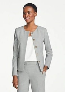 Ann Taylor The Tall Crewneck Jacket in Graph Check