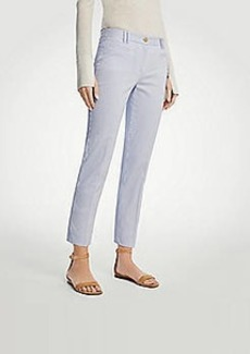 Ann Taylor The Tall Curvy Crop Pant in Railroad Stripe