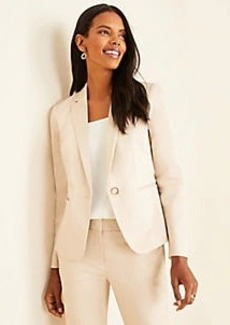 Ann Taylor The Tall One-Button Blazer in Cotton Sateen