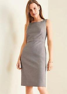 Ann Taylor The Tall Scoop Neck Sheath Dress in Birdseye