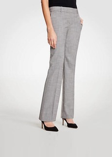 Ann Taylor The Tall Straight Leg Pant In Crosshatch - Curvy Fit