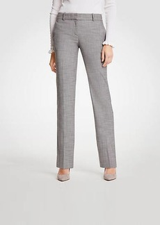Ann Taylor The Tall Straight Leg Pant In Crosshatch